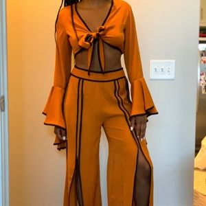 Nasty Gal 2-Piece Matching Orange